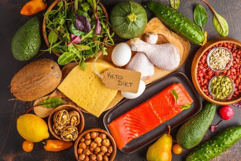 dieta keto - przykładowe produkty